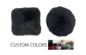 Sheepskin Pillows Round or Square Custom Colors