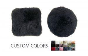 Sheepskin Pillows Round or Square Custom Colors