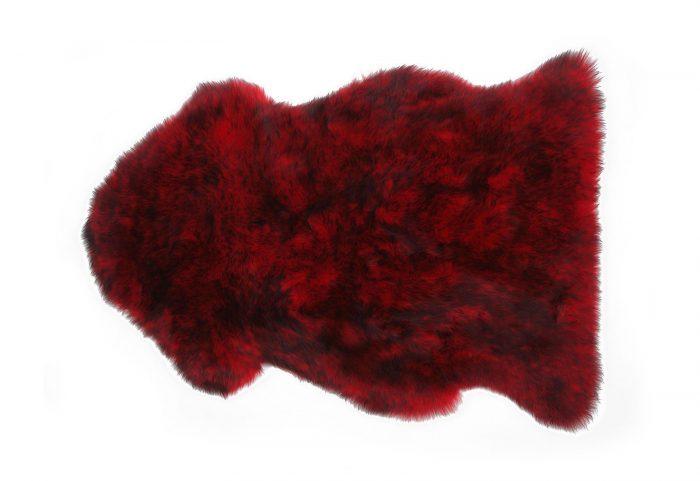 Chili Red Sheepskin Rug