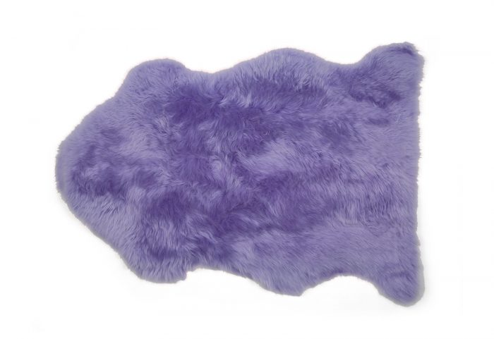 Light Purple Fuchsia Single Pelt Sheepskin Rug