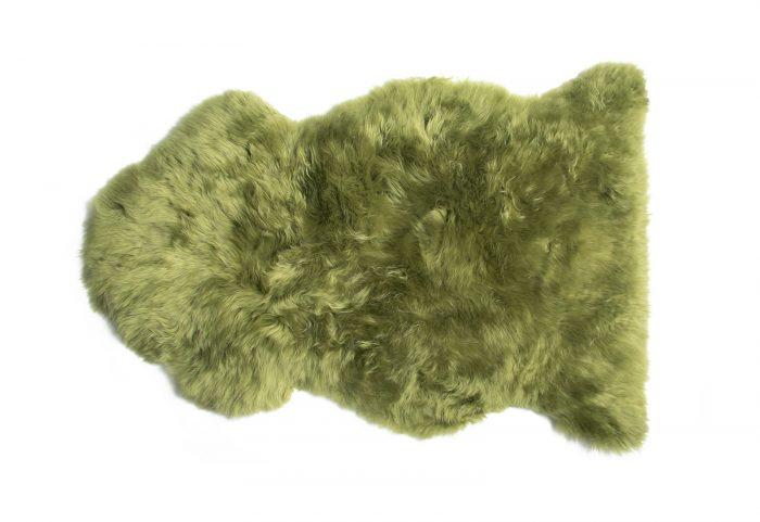Lime Green Sheepskin Rug