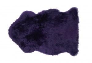 Dark Purple Sheepskin Fur Rug