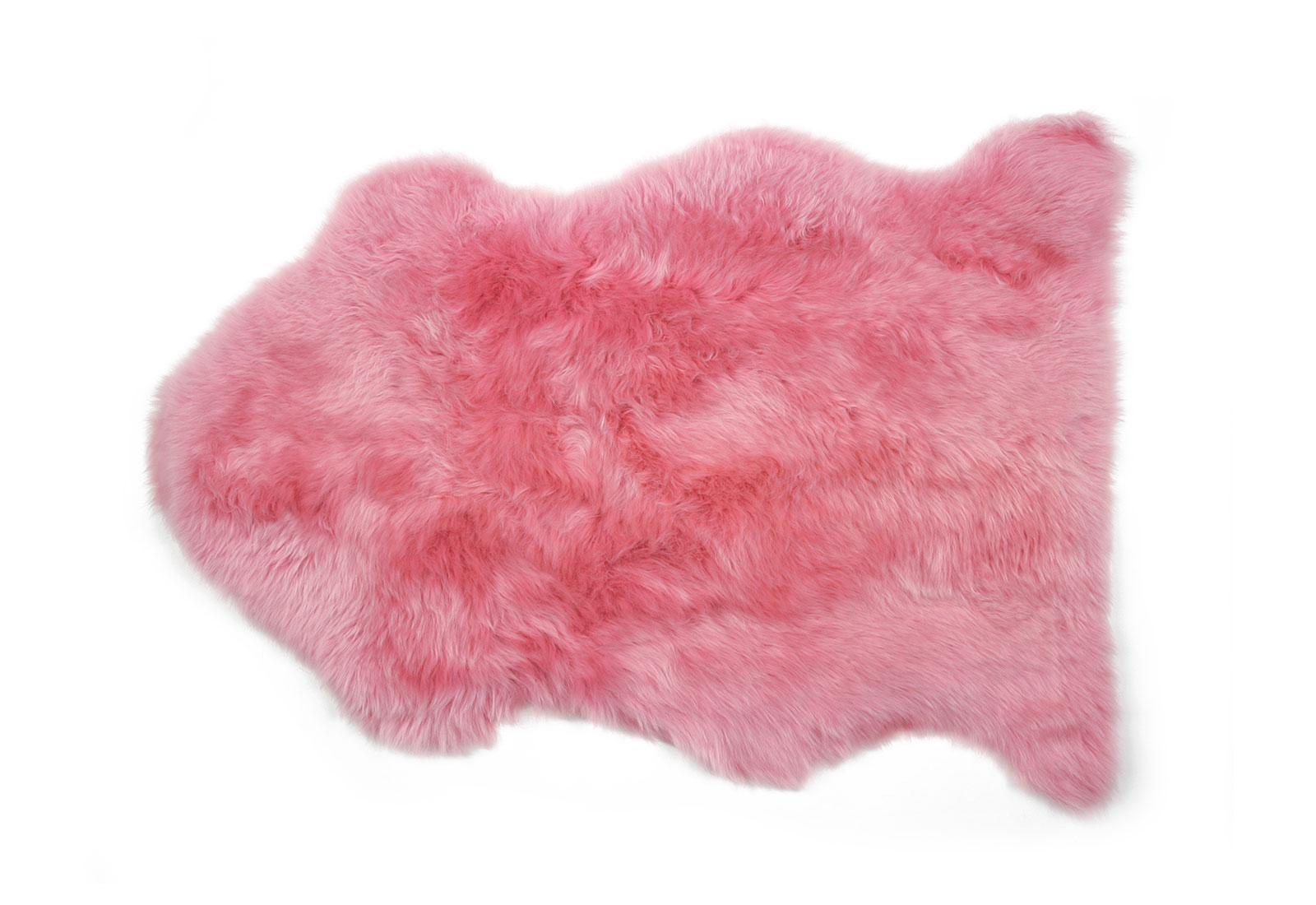 Magenta Pink Sheepskin Rug