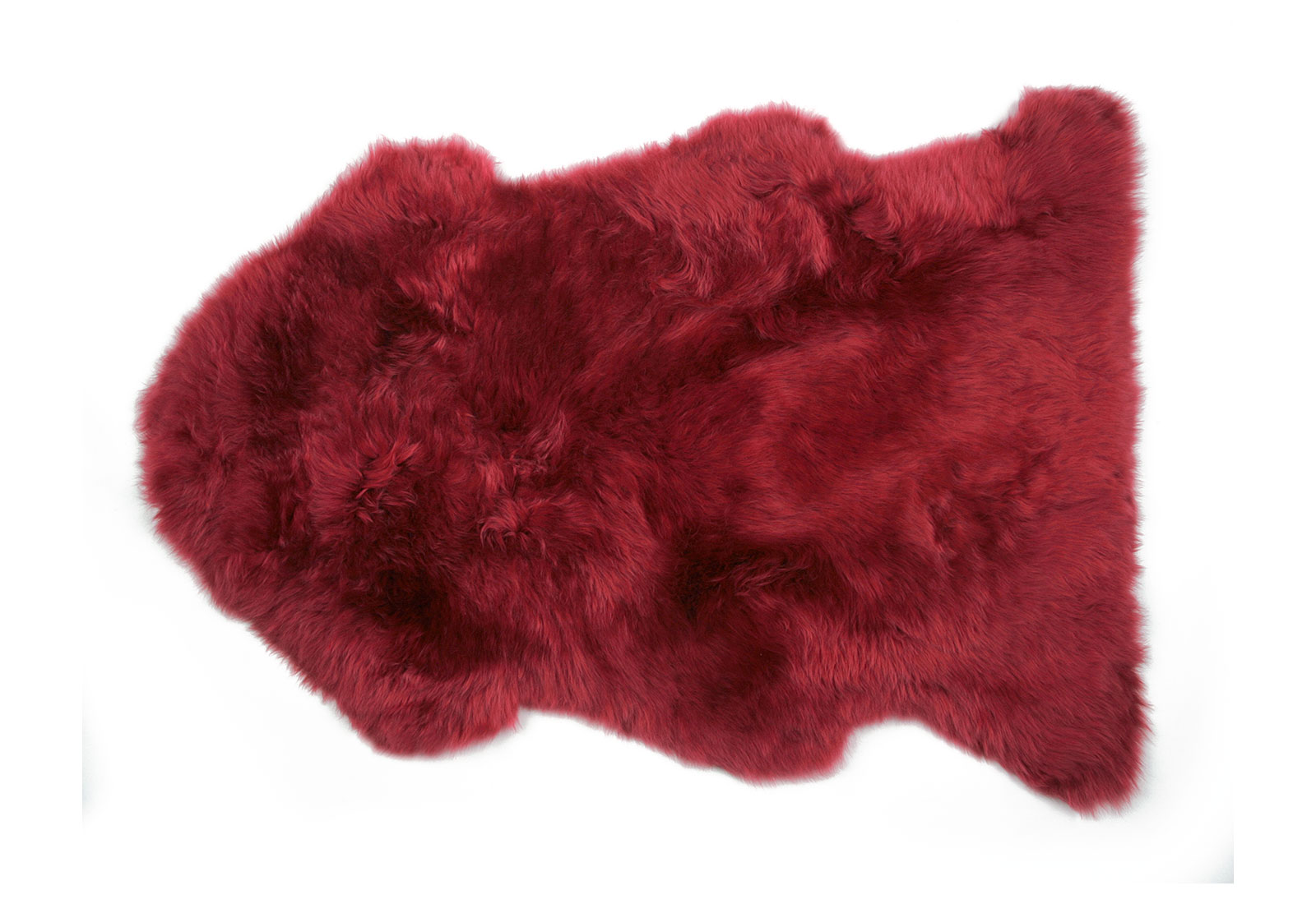 Raspberry Red Sheepskin Rug