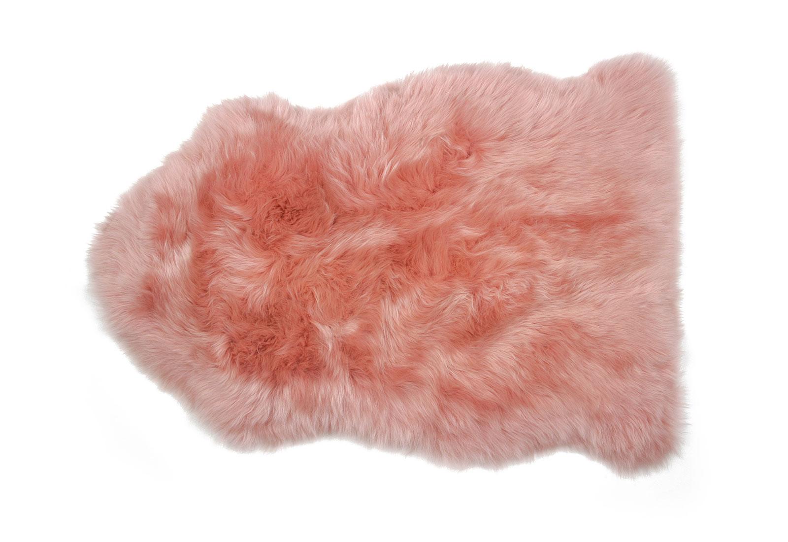 Salmon Pink Sheepskin Rug