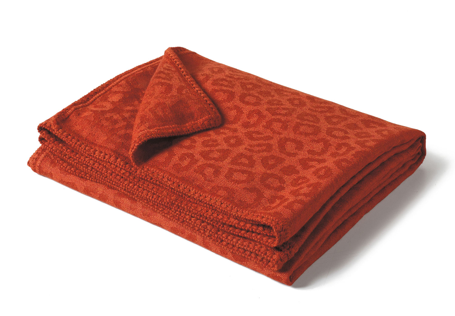 Rust Orange Giraffe Print Alpaca Throw