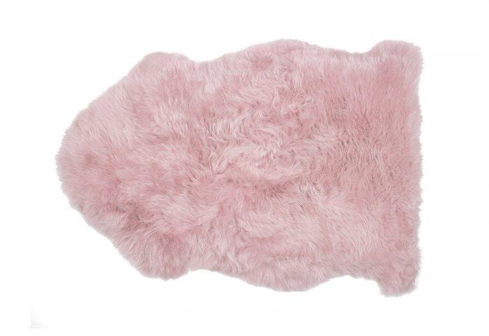 Powder Rose Pink Sheepskin Rug