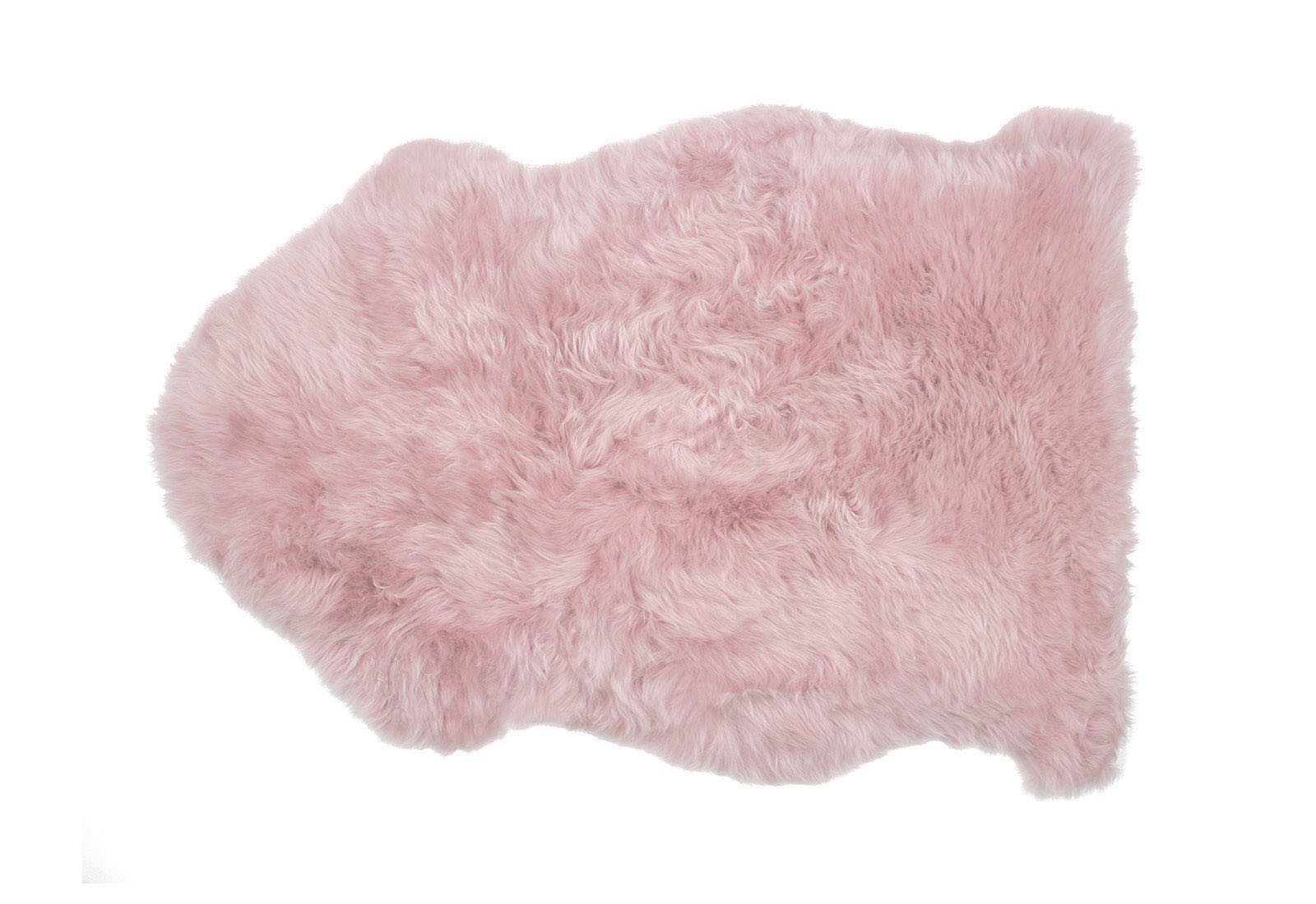 Powder Rose Pink Sheepskin Rug