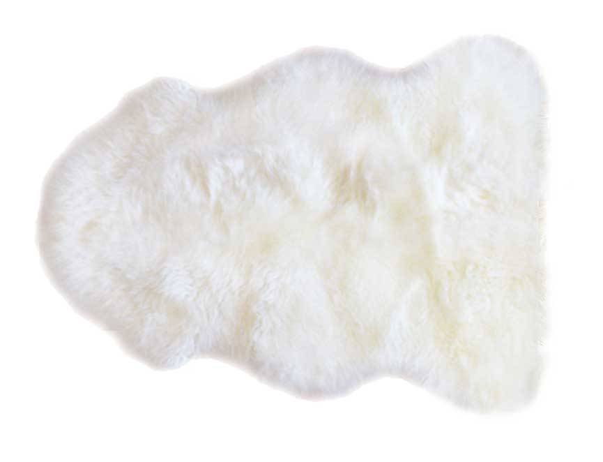 Sheepskin Rug Single Pelt Ivory