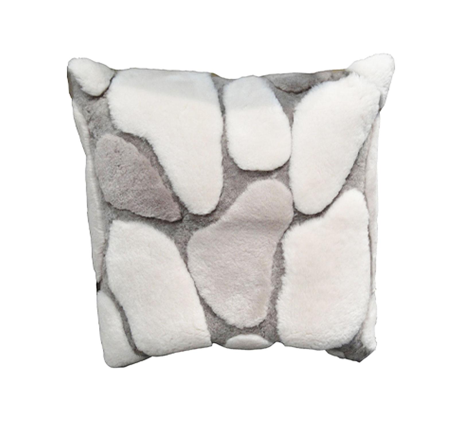Shearling Stones Pillow