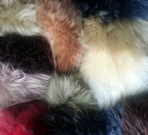 US Sheepskin Long Wool Swatches