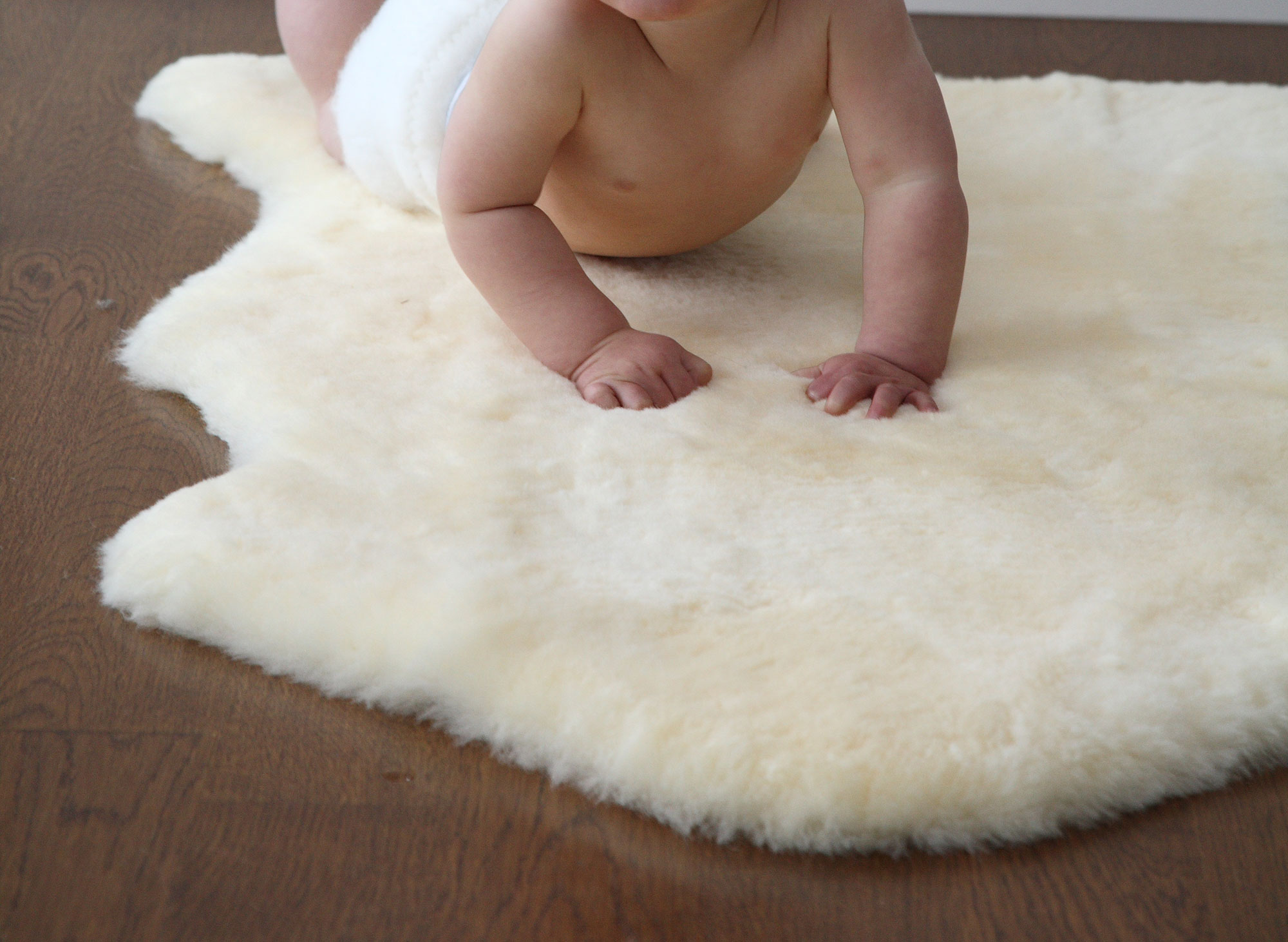 Shorn Infant Care Lambskin Rug For Baby