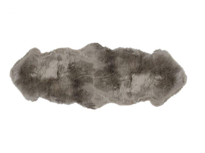 Sheepskin Rug 2 Pelt Vole Gray