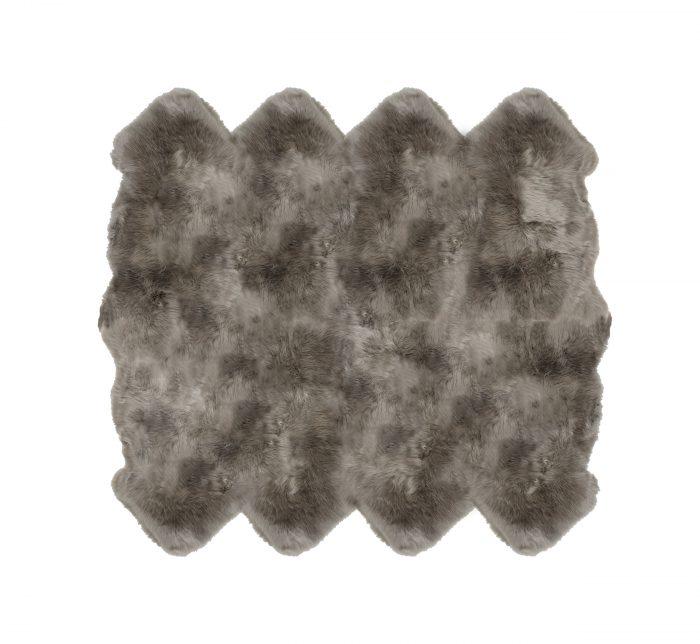 Sheepskin Rug 8 Pelt Vole Gray