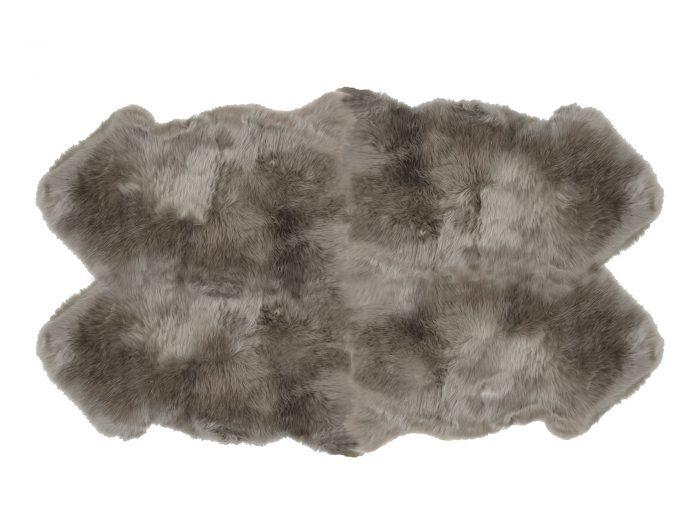 Sheepskin Rug 4 Pelt Vole Gray