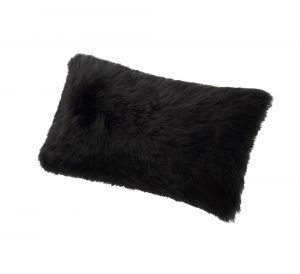 Sheepskin Kidney Pillow Black