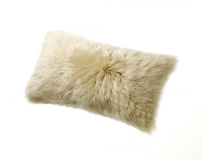 Sheepskin Kidney Pillow Linen Tan