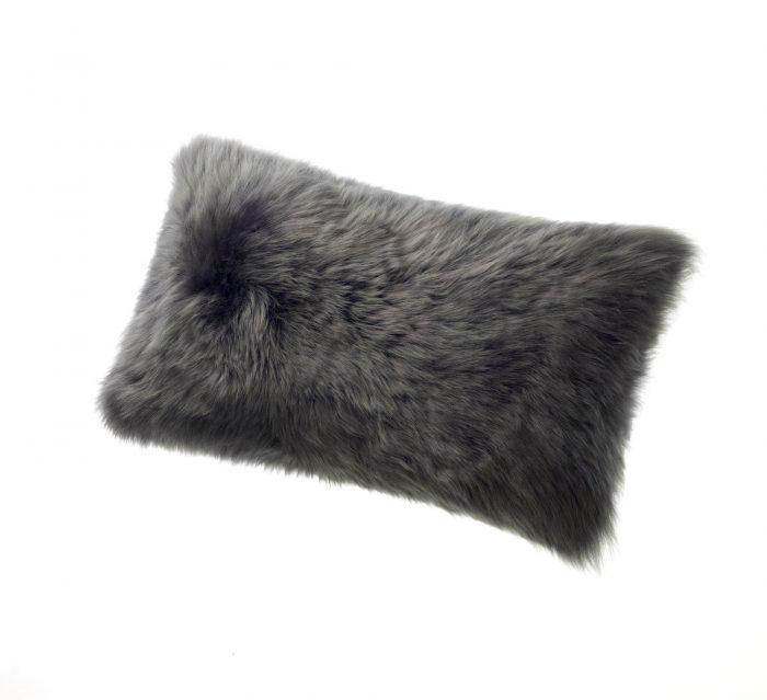 Sheepskin Kidney Pillow Gray Steel