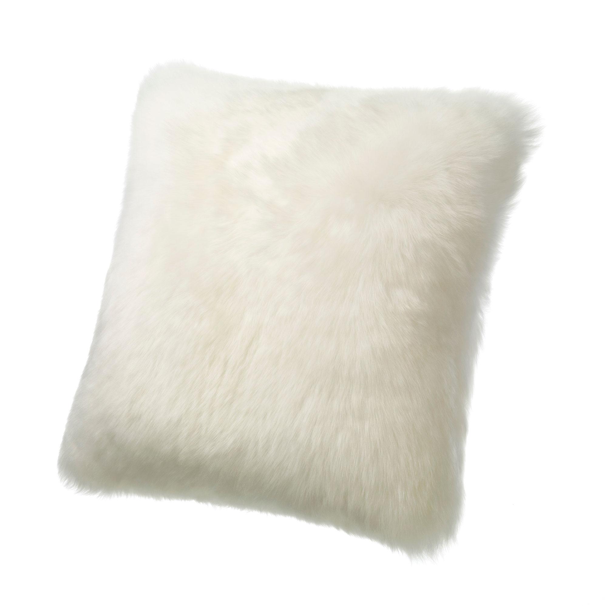 Sheepskin Pillow Ivory