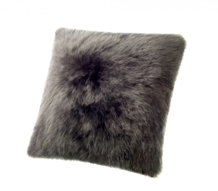 Sheepskin Pillow Dark Gray