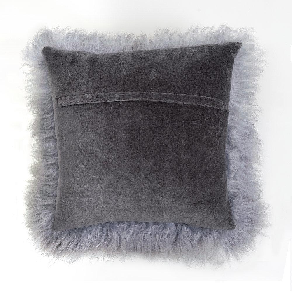 Tibetan Lambskin Pillow Dove Gray