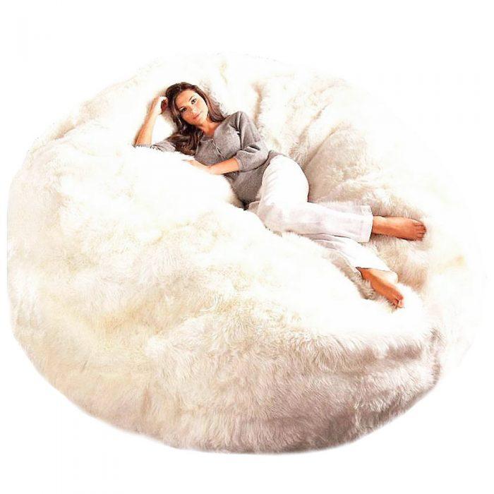 Giant Sheepskin Bean Bag Chair