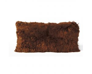 Alpaca Cushion Copper Brown