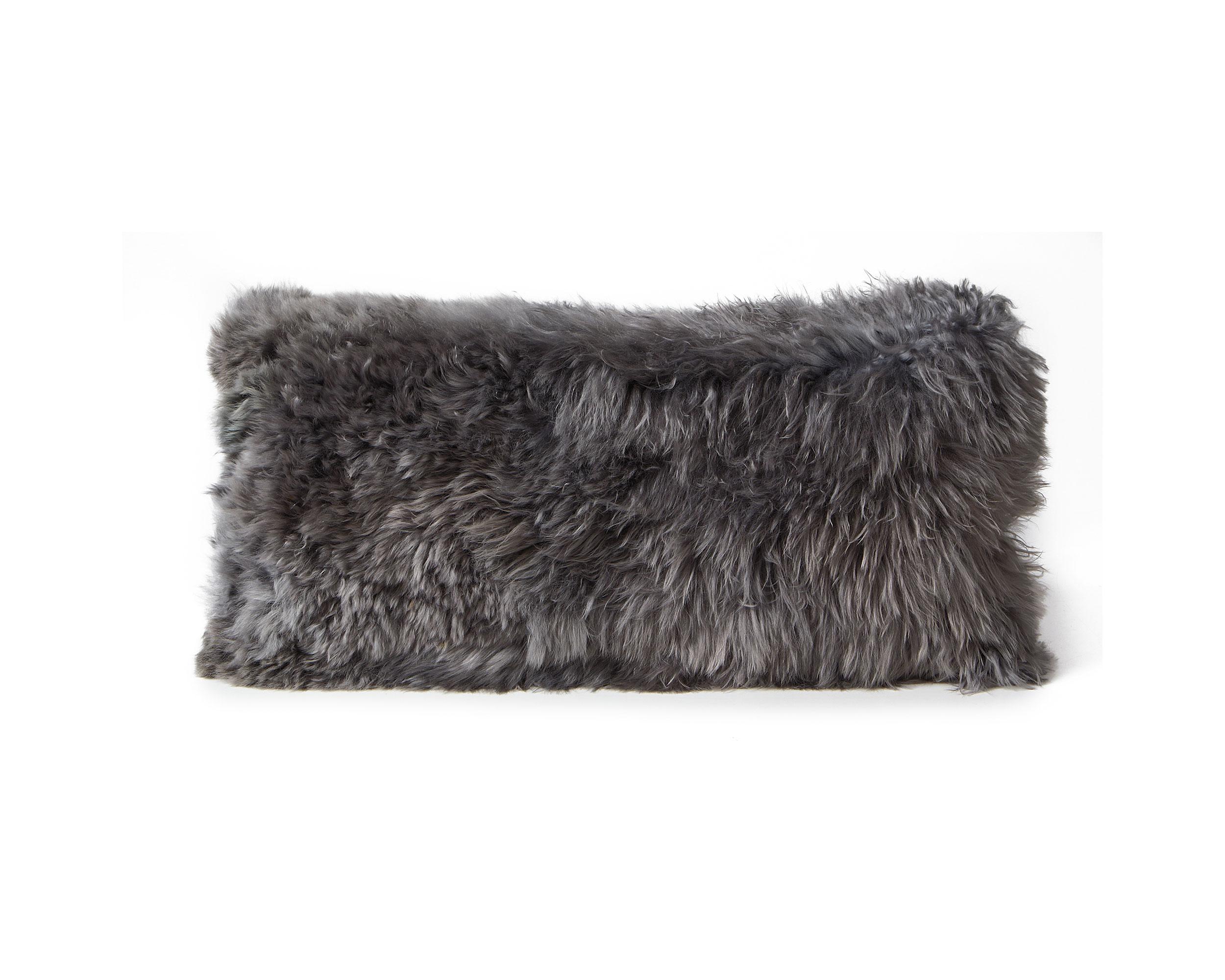 Alpaca Cushion Steel Gray