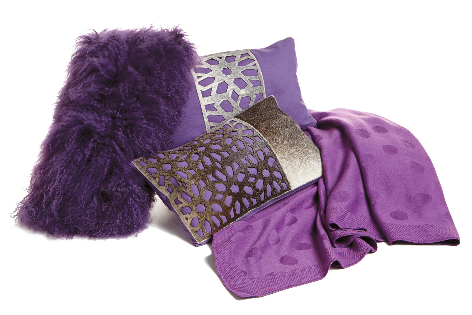 Purple Pillows and Throws