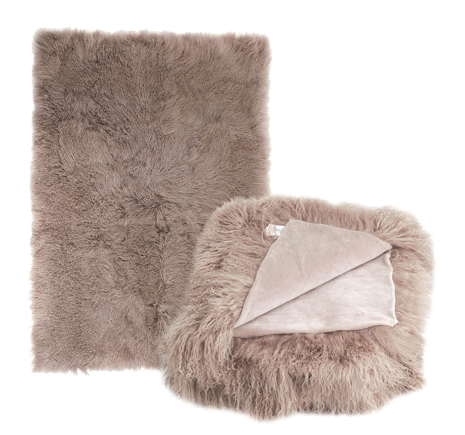 Tibetan Lambskin Throw Blanket