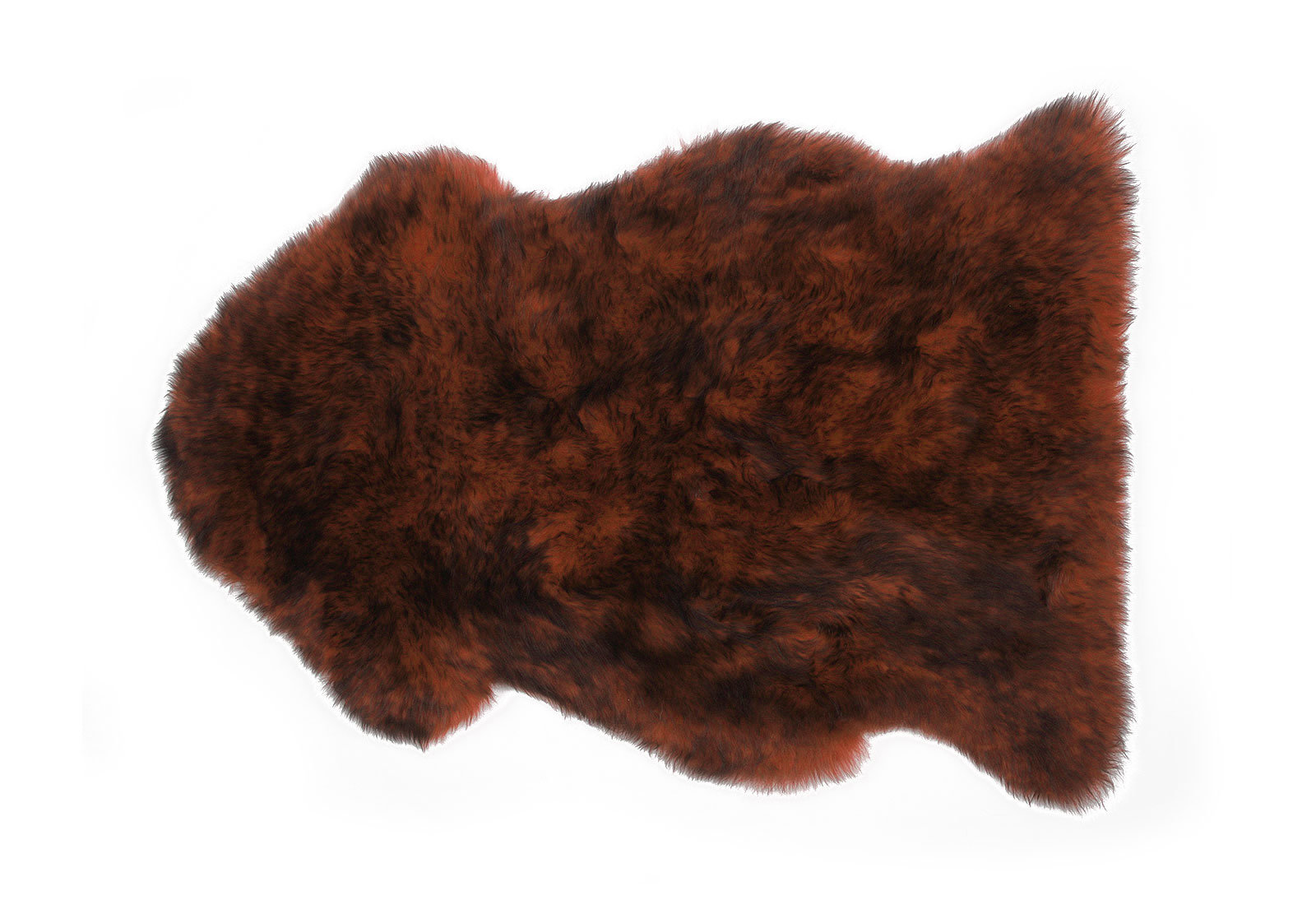 Brown Sheepskin Fur Rug