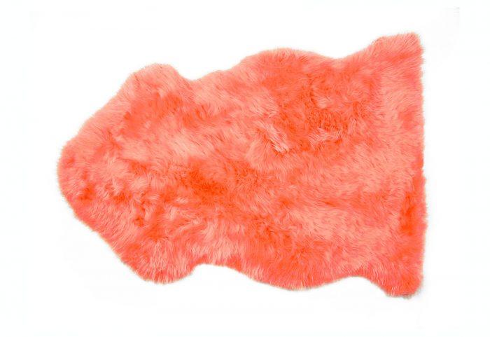 Sheepskin Rug Orange Fur