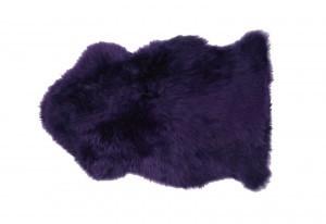Loganberry Purple Sheepskin Fur rug