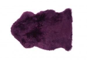 Plum Purple Sheepskin Fur Rug