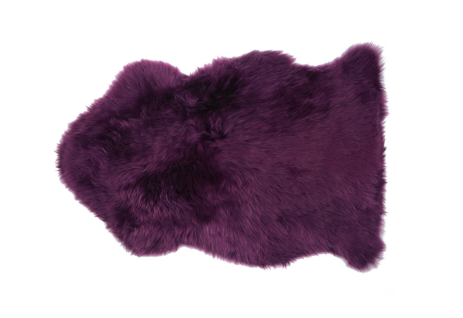 Plum Purple Sheepskin Fur Rug