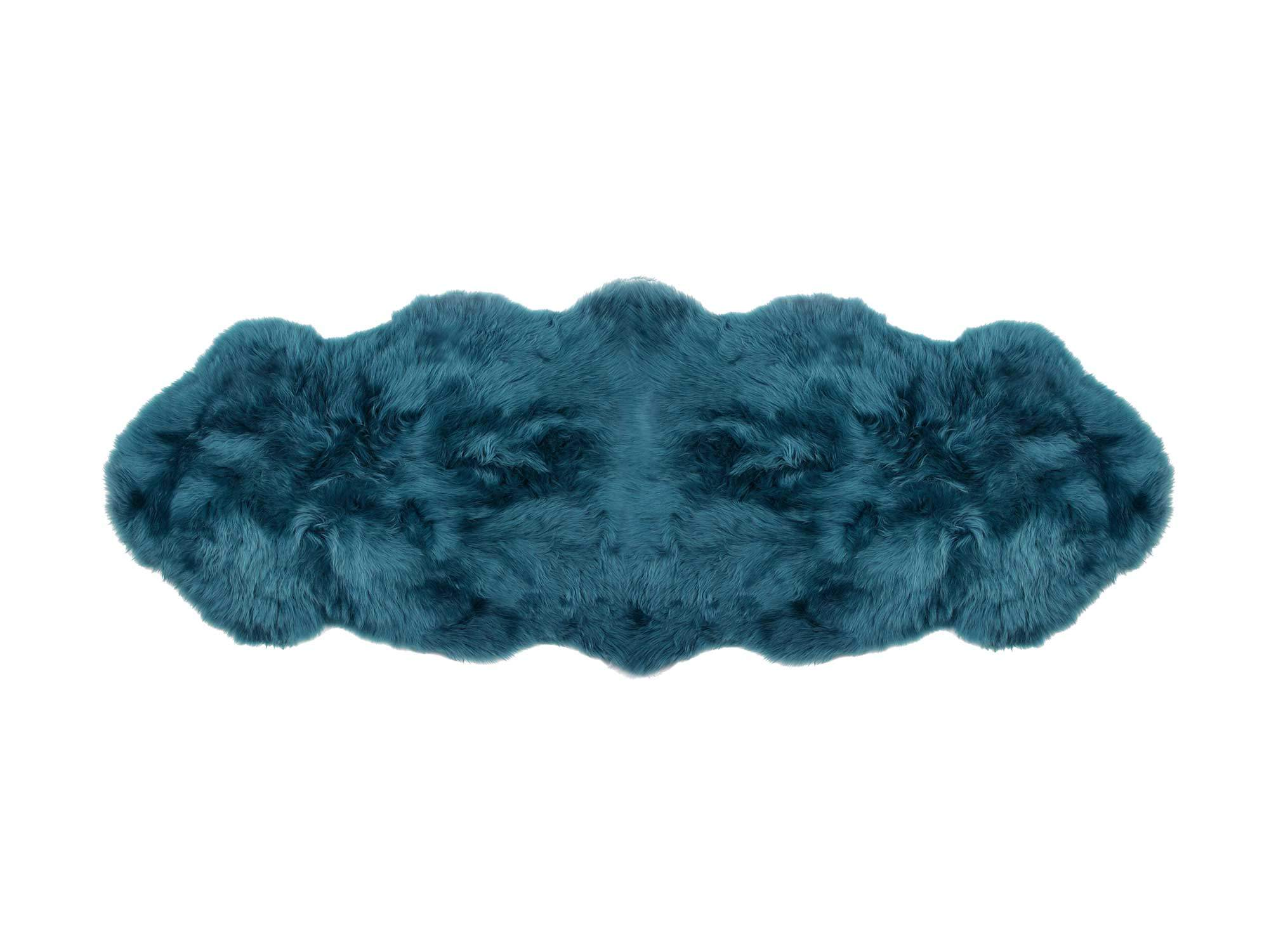 Blue Green Tasman 2 Pelt Sheepskin Rug