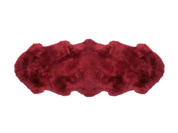 Red Raspberry Double Pelt Sheepskin Rug