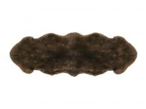 2 Pelt Sheepskin Brown Rug