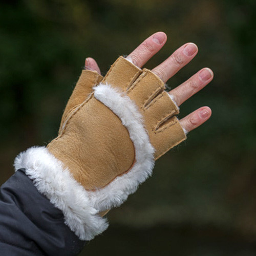 Sheepskin Finger Tip Gloves