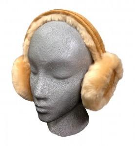 Sheepskin Ear Muffs Tan