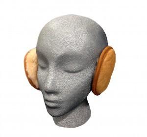 Sheepskin Earmuff Wrap Tan
