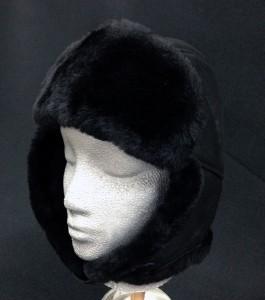 Sheepskin Trouper Hat Black