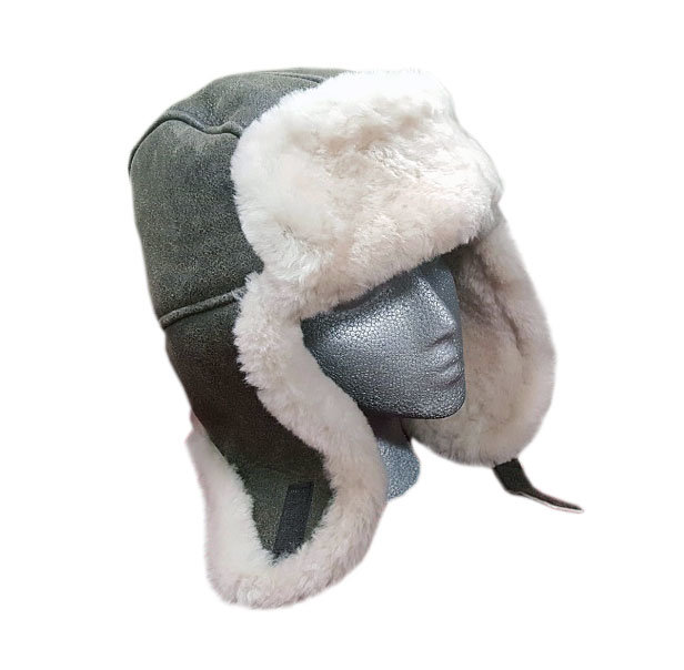 Sheepskin Trouper Hat Brown Winter Hat