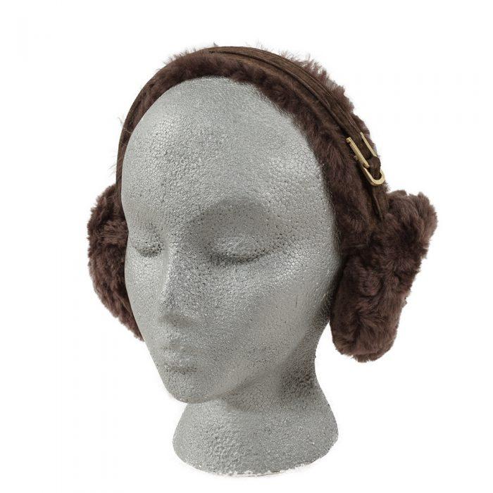 Brown Sheepskin Earmuffs