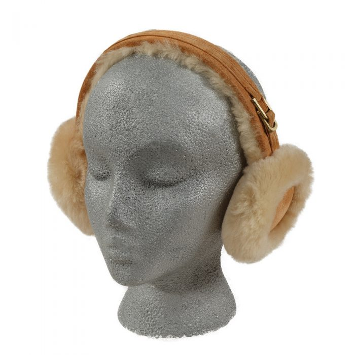 Tan Sheepskin Earmuffs