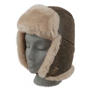 Sheepskin Trouper Hat Brown