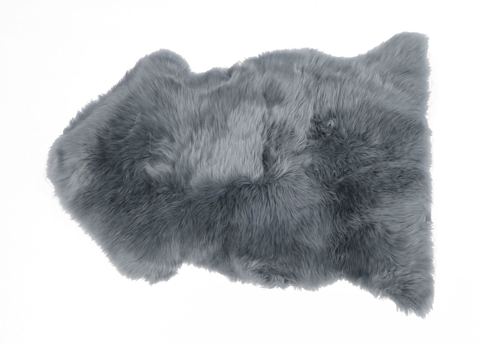 Gray Single Pelt Sheepskin Rug