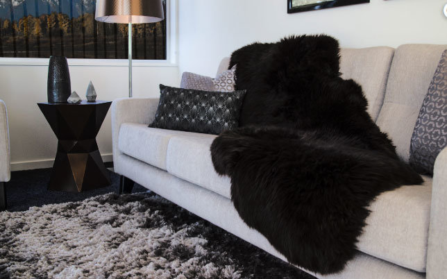 Black Sheepskin Double Pelt