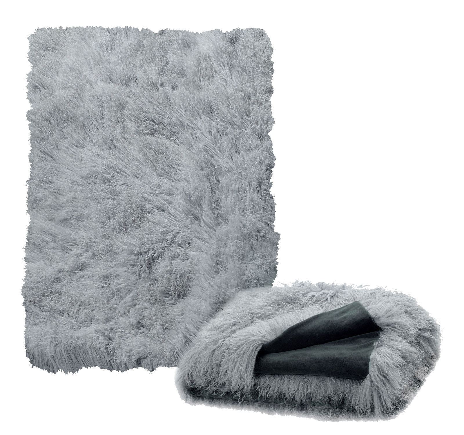 Tibetan Lambskin Throw Dove Grey