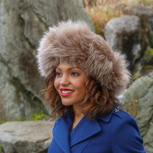 Shangri La Women's Sheepskin Fur Hat